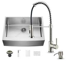 kitchen sink and faucet sets vigo all in one farmhouse apron front stainless steel 30 in 0