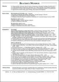 Best Teacher Resume Templates by Teaching Resume Objective Education Resume Template Word Teacher