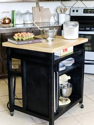 how to build a diy kitchen island on wheels hgtv attach the butcher block top