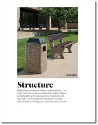 structure 6 u0027 slotted steel stone park bench indoff commercial