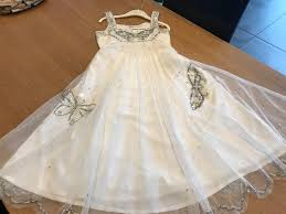 beautiful monsoon girls occasion ivory butterfly dress age 8 9