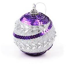 Silver Christmas Tree Baubles - popular purple and silver christmas tree decorations buy cheap