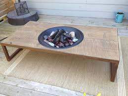 Patio Table With Firepit Wood Pit Patio Table