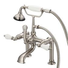 vintage bathtub faucets water creation 3 handle vintage claw foot tub faucet with hand