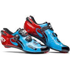 sidi wire carbon push road shoe blue black red bike24