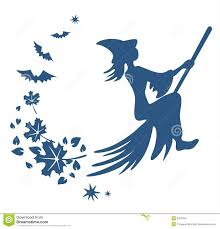 witch silhouette clipart flying witch silhouette stock images image 3323434