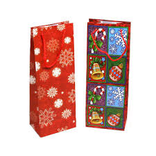 wine gift bag christmas wine bottle gift bags walmart