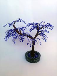 47 beaded blue tree handmade tree buy handmade gift
