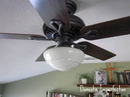 Ceiling Fan Sconces Ceiling Fan Lampshades Domestic Imperfection