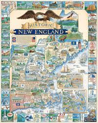 New England Usa Map by United States Of America Puzzlewhite Mountain Puzzles United