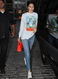 jenner sweater kendall jenner is casual in a sweater and in ny daily mail
