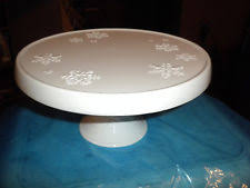 milk glass cake stand ebay