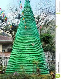 christmas tree made of christmas lights decoration