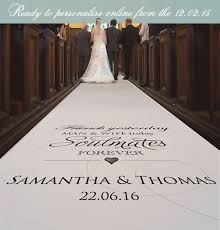 personalized aisle runner say hello to personalised aisle runners b g