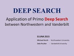 deep search application of primo deep search between northwestern