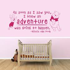 17 nursery wall decals and how to apply them keribrownhomes bedroom inspiring nursery wall decals winnie the pooh quotes with pink wall interior color decor