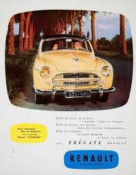 renault motor 1955 ad renault motor car vehicle french advertisement engine