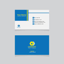 clean business card template vector design illustration royalty