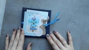 Accordion Photo Album Accordion Photo Book Blue Sea Photo Album 4x4 Youtube