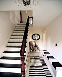 small hallway decor with rug and classy furniture idea small