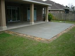 small patio small backyard concrete patio dc west construction inc