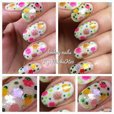 ehmkay nails daisy nail art with red dog designs flower power