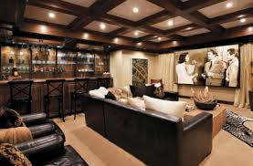 Media Room Designs - love this room for watching movies or entertaining during sports