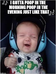 Baby Poop Meme - jammin baby meme imgflip