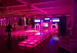 portable floor rental rent led dancefloor acrylic stage riser rental lighted