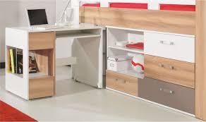 lit avec bureau coulissant lit combiné enfant et adolescent avec bureau et commode