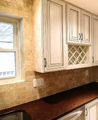 Brown Subway Travertine Backsplash Brown Cabinet by Brown Subway Travertine Backsplash Tile Backsplash Com