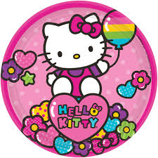 hello kitty writing paper hello kitty archives the party starts here hello kitty rainbow 7 inch paper plates