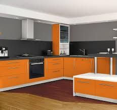 cuisine orange et gris decoration cuisine couleur orange