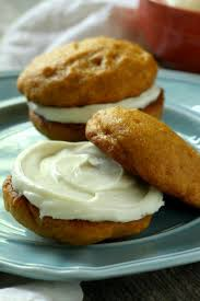 cheese filled pumpkin whoopie pies chocolate with grace