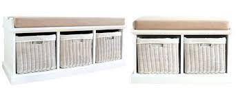 White Bench With Storage Buy Storage Bench Floorganics