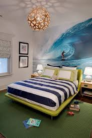 Ocean Themed Kids Room by Ecletic Teen Bedroom Design With Ocean Sky Wall Mural Ideas Wall