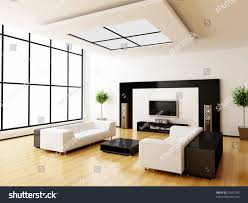modern home interior 3d rendering stock illustration 22937704
