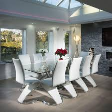 contemporary 10 seater dining table modern large 10 seater glass stainless steel dining table 240 x