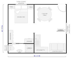the studio400 plan is a single room modern guest house plan with a floor plan for flat 6m x 6m search great pin