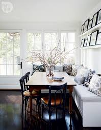 Dining Room With Bench Seating House Tour Charming And Sophisticated Victorian Rowhouse