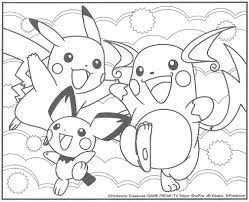 pichu coloring pages getcoloringpages com