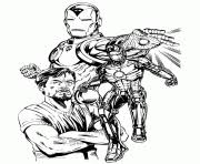 iron man a4 avengers marvel coloring pages printable