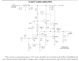audio amplifier circuit diagram electrical diagram