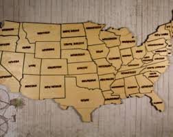 us map puzzle wood large license plate map of the united states 48 x license plate