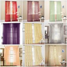 Window Sheer Curtains 1 Home Sheer Voile Door Window Curtain Panel Drape More Than