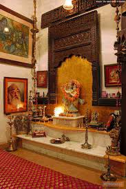 pooja decorations at home an elegant puja room with marble floor and hanging bells and idols