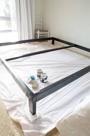 Metal Bed Frame Cover Simple Diy Headboard For The Guest Room In My Own Style
