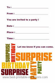 free printable surprise party invitation template