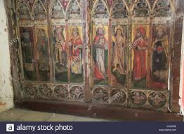 Historical Description Of Suffolk England Medieval Rood Screen Paintings St Andrew Church Westhall