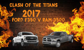 clash of the titans 2017 ram 3500 v 2017 ford f 350 miami